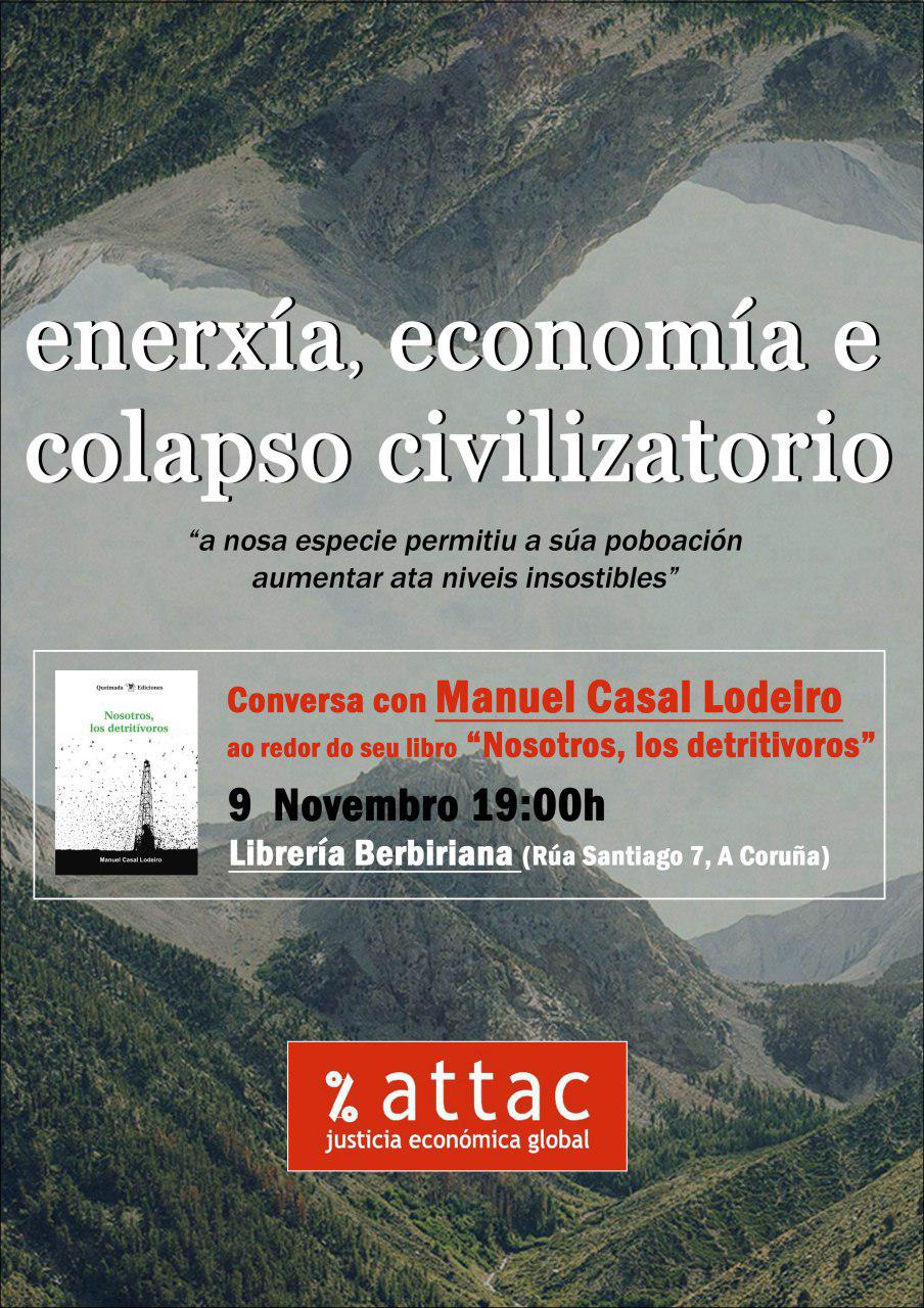 Charla sobre economía, enerxía e colapso na Coruña